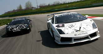 Болиды Lamborghini Gallardo Super Trofeo №1 и №2